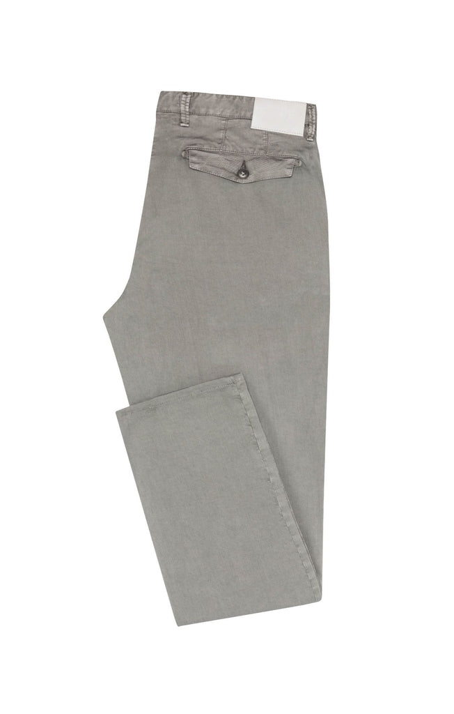 medium grey garment dyed stretch fine twill