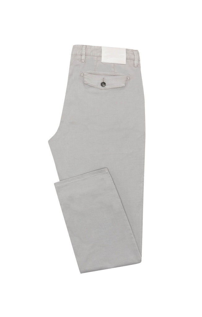 light grey garment dyed stretch broken twill