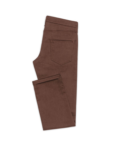 Mid Brown Twill Stretch