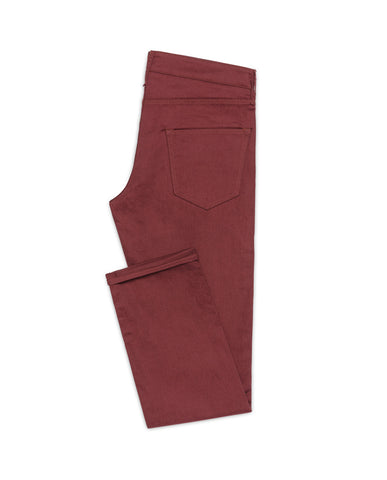 Wine Red Twill Stretch
