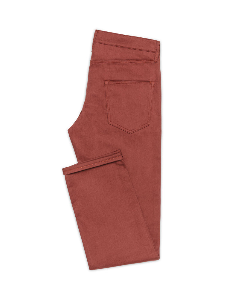 Olimpias Brick Red Twill Stretch