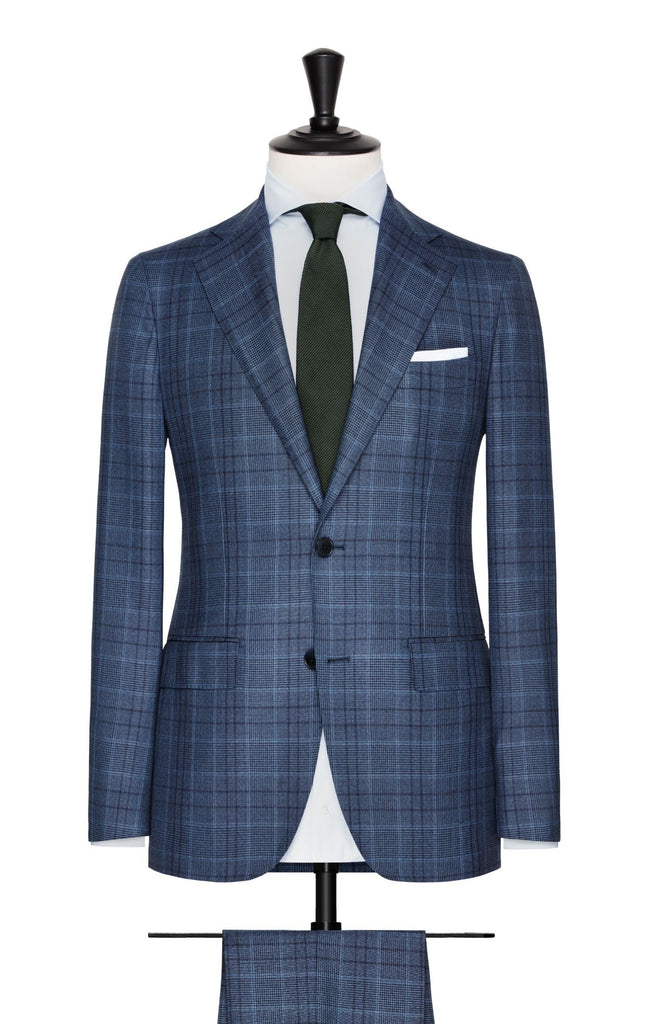 slate blue glencheck with windowpane