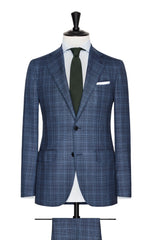 slate blue glencheck with windowpane Inspiration