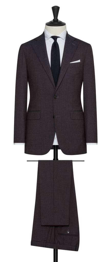 Vitale Barberis Canonico Blackberry Doppio Ritorto Super 130 Mouliné Merino Wool