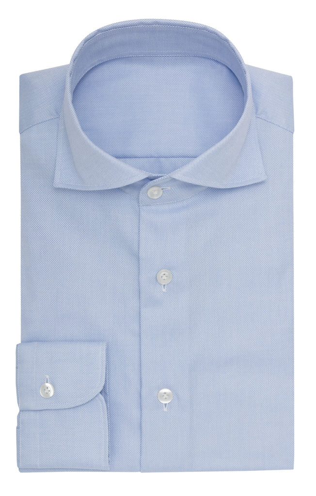 Albini Light Blue Oxford 365 Easy-Care Two Ply Cotton
