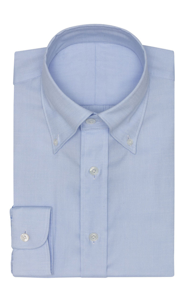Albini Royal Oxford Light Blue 365 Easy-Care Two Ply Cotton