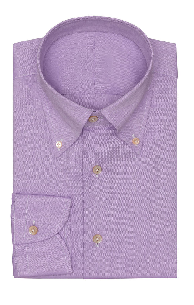 Albini Lavender Oxford 365 Easy-Care Two Ply Cotton