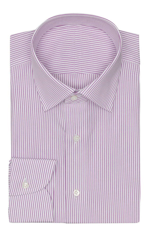 Albini lilac pin stripes