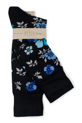 Black Flower - Socks - Made To Measure - Bespoke - Amsterdam - Possen