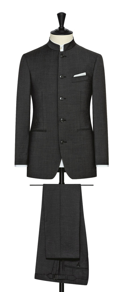 Zignone black s100 wool with subtle micro check