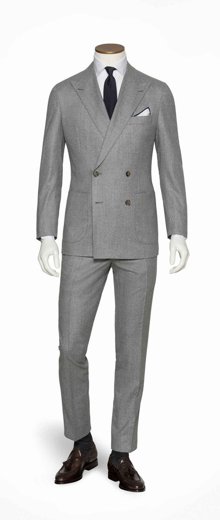Barberis Canonico Light Grey Flannel S120 Merino Wool with Natural Stretch