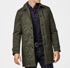 Olmetex Hunter Green Quilted Technical Coat