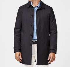 Olmetex Midnight Blue Cotton Blend Unconstructed Windbreaker