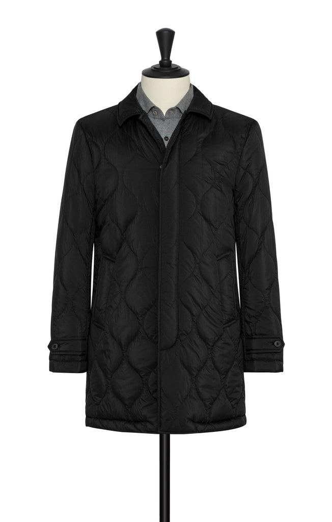 Olmetex Featherlight Black Quilted Unconstructed Technical Fabric