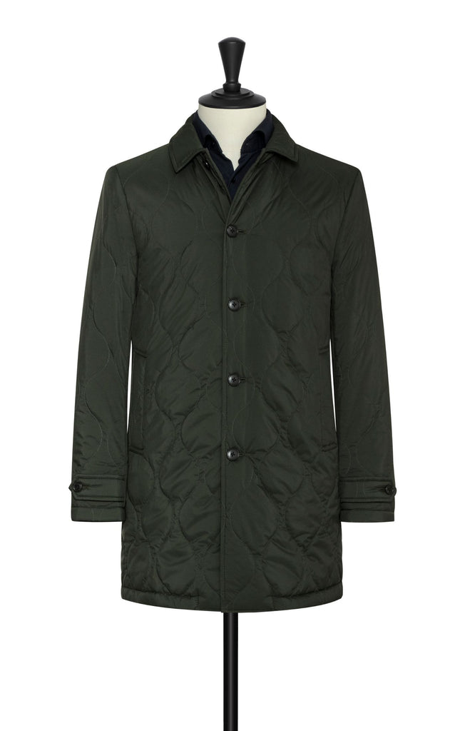 Olmetex Featherlight Hunter Green Quilted Unconstructed Technical Coat