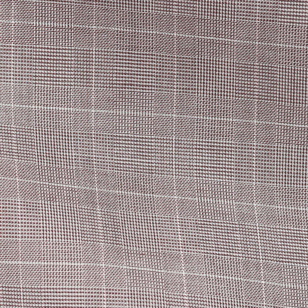 Albiate Twill Glencheck Light Grey & Wine Soft Flannel Two Ply Cotton