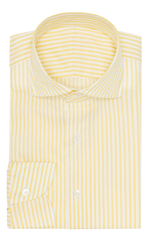 Weba white cotton with lemon yellow classic stripes