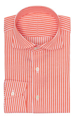 coral cotton linen twill with white stitched stripes Inspiration