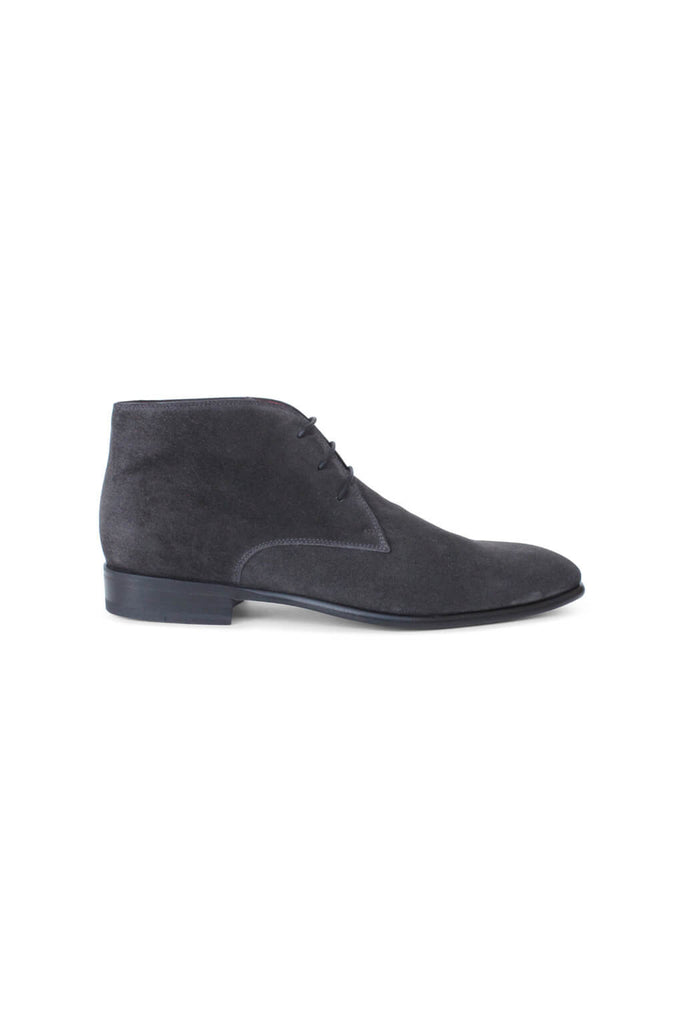 Velour Asfalt Mid High Lace Ups