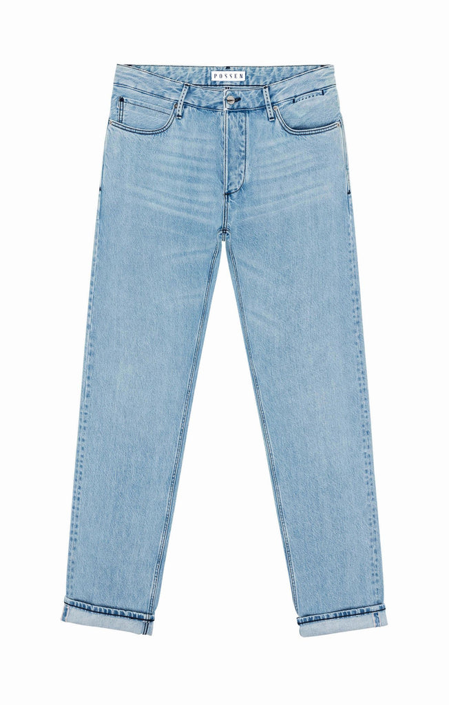 Candiani Light Blue Selvedge Rigid Washed Jeans