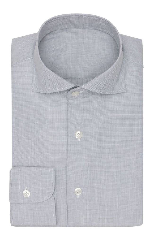 Thomas Mason Poplin Fil-a-Fil Light Grey Two Ply Cotton
