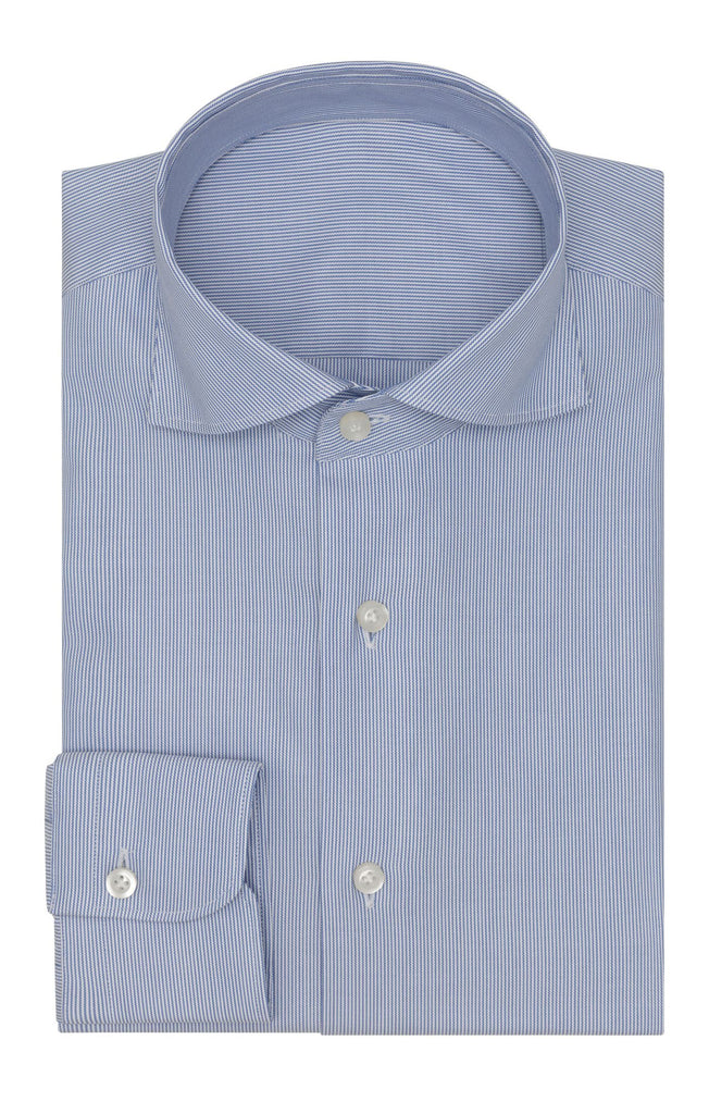 Thomas Mason twill stripe blue