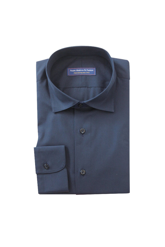 Thomas Mason poplin midnight blue