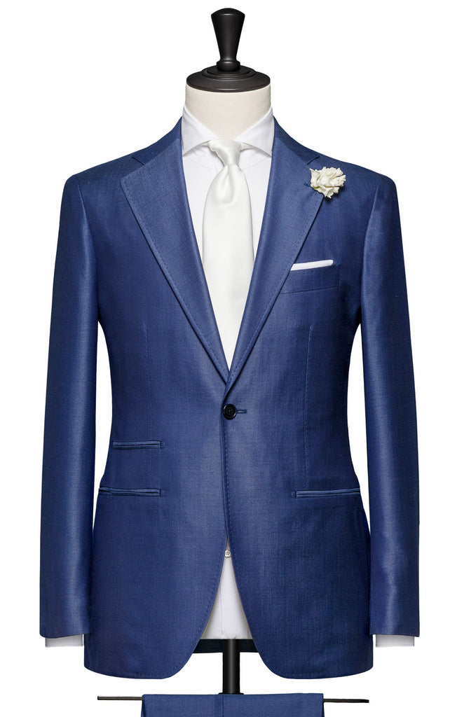 Fratelli Tallia di Delfino bright blue wool silk