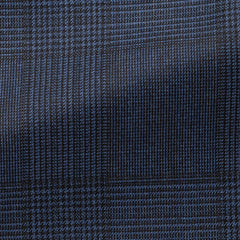 Drago-blue-black-s120-wool-with-glencheck-BB265gr Fabric