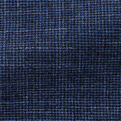 Angelico-bright-blue-dark-blue-wool-linen-brushed-houndstooth-B280gr Fabric
