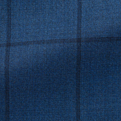 Drago-blue-mélange-s130-wool-with-windowpane-BB215gr Fabric