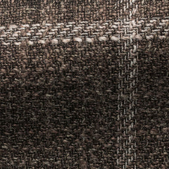 brown-silk-linen-cotton-blend-with-white-windowpane-JD290gr Fabric