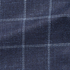 dark-blue-mélange-wool-silk-linen-textured-twill-with-white-windowpane Fabric