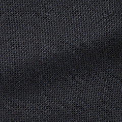 frosted-navy-black-chunky-silk-linen-giro-inglese Fabric