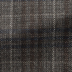 Paulo-Oliveira-mixed-brown-wool-with-blue-white-glencheck-JA295gr Fabric