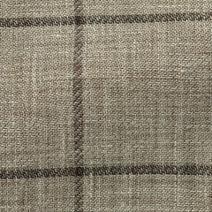 oatmeal-linen-wool-with-chocolate-windowpane-JB325gr Fabric