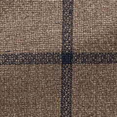 Ferla-light-brown-faux-uni-silk-linen-cotton-with-navy-check-JD310gr Fabric