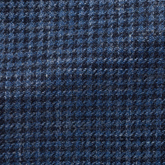 Drago-blue-midnight-wool-silk-linen-houndstooth-JB255gr Fabric