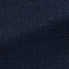 navy-wool,cotton-and-linen-blend-open-weave-with-micro-check-JAA260gr Fabric