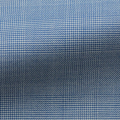 blue-wool-with-fine-glencheck-BB275gr Fabric
