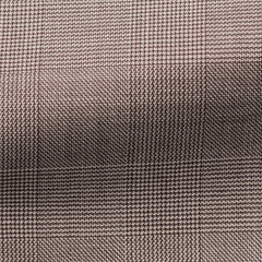 brown-wool-with-fine-glencheck-BB275gr Fabric