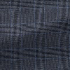 navy-s130-wool-with-mid-blue-and-black-glencheck-BB275gr Fabric