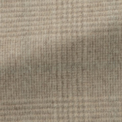 light   brown speckled brushed wool cashmere glencheck with light   grey windowpane Inspiration