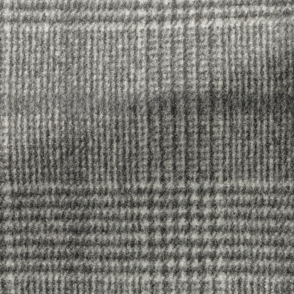 grey speckled brushed wool cashmere glencheck with dark   grey windowpane