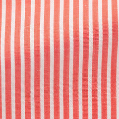 coral-cotton-linen-twill-with-white-stitched-stripes-BB119gr Fabric