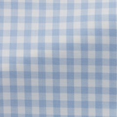 Weba-white-cotton-with-light---blue-check-BB118gr Fabric