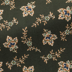 Albini-olive-green-cotton-with-Persian-floral-print-BB95gr Fabric