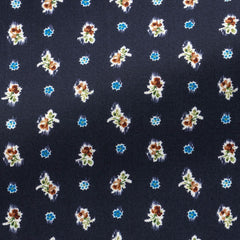 Albini-dark-blue-cotton-with-floral-dot-print-BB95gr Fabric