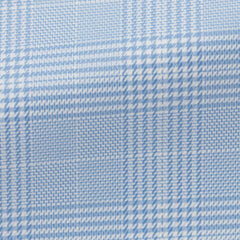 Albini-light---blue-cotton-flannel-with-check-BB135gr Fabric