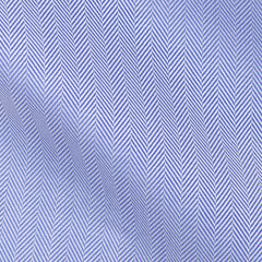 Thomas-Mason-herringbone-mid-blue-B190gr Fabric